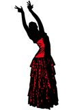 Sketch of a girl in dance pose Flamenco Stock Image