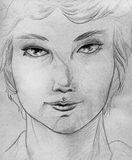 Sketch of a girl Royalty Free Stock Photography