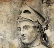 Sketch gjorde med den digitala tableten av allmänna pericles Fotografering för Bildbyråer