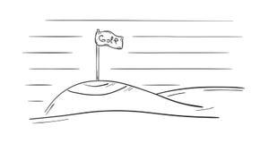 Sketch of the golf flag Stock Photos