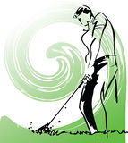 Sketch of Golfers illustration. Made in adobe illustrator Royalty Free Stock Photo