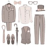 Sketch groom clothing Royalty Free Stock Images