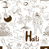 Sketch Haiti seamless pattern Stock Image
