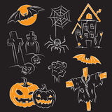 Sketch Halloween Illustration Stock Photos