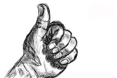 Sketch hand Royalty Free Stock Photography