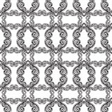 Sketch hand drawn pattern. Seamless abstract background with curls and waves Royalty Free Stock Images