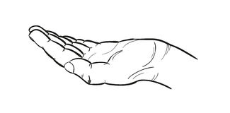 Sketch of the hand Royalty Free Stock Image