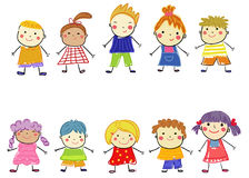 Sketch happy children Stock Photography