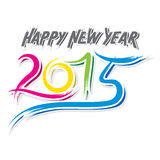 Sketch happy new year 2015 design Royalty Free Stock Image