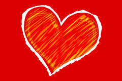 Sketch heart. Color sketch of the heart Royalty Free Stock Images