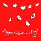 Sketch hearts garland Royalty Free Stock Photo