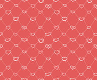 Sketch hearts net Stock Images
