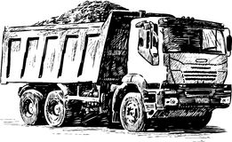 Sketch of a heavy lorry Stock Photo