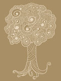 Sketch Henna doodle Tree Royalty Free Stock Photo