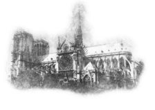 Sketch of the historical building image on a white sheet of paper stock images