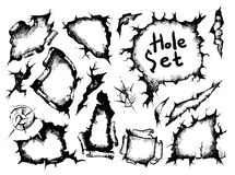 Sketch holes set Royalty Free Stock Photos