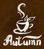 A sketch of hot cup of autumn tea Stock Photography