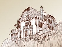 Sketch of the house Stock Photography