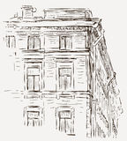 Sketch of a house Royalty Free Stock Images