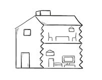 Sketch of the house Royalty Free Stock Photo