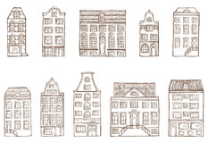Sketch houses. Stock Images