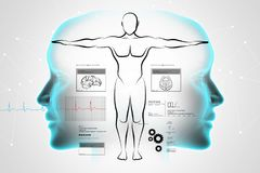 Sketch of human body Stock Images
