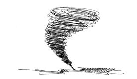 Sketch of the hurricane Stock Photo