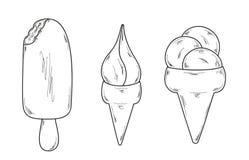Sketch of the ice cream Stock Image
