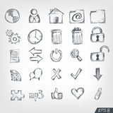 Sketch Icon Set Stock Photography