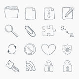 Sketch Icon Set Stock Images