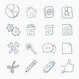 Sketch Icon Set Royalty Free Stock Images