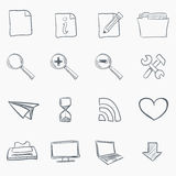 Sketch Icon Set. Isolated on White Background. Vector EPS8 Royalty Free Stock Image