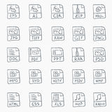 Sketch Icon Set Royalty Free Stock Photo