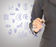 Sketch Icon Set. Business woman stock photography