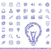 Sketch icons Stock Image