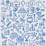Sketch icons set business. Sketch icons set business, collection arrow scribble, Vector illustration Stock Photos