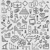 Sketch icons set business. Sketch icons set business, collection arrow scribble, Vector illustration Royalty Free Stock Images
