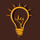 Sketch idea bulb. Stock Stock Images