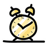 Sketch illustration of the alarm clock Royalty Free Stock Image
