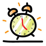 Sketch illustration of the alarm clock Royalty Free Stock Photos