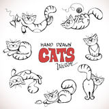 Sketch illustration of playful cats Royalty Free Stock Photo