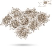 Sketch illustration of roses Royalty Free Stock Images