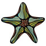 Sketch illustration of starfish Stock Photography