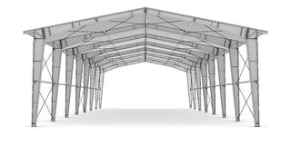 Sketch of industrial architecture Royalty Free Stock Photo