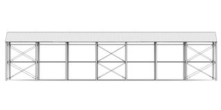 Sketch of industrial architecture Stock Photography