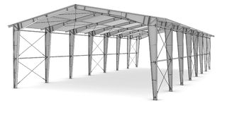 Sketch of industrial architecture Stock Photo