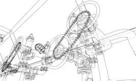 Sketch industrial equipment. Vector Stock Image