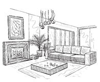 Sketch of an interior Stock Images