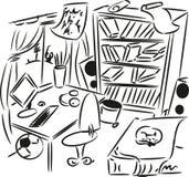 Sketch of interior. Teenager's bedroom Stock Photography