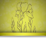 Sketch  iris background Royalty Free Stock Photography
